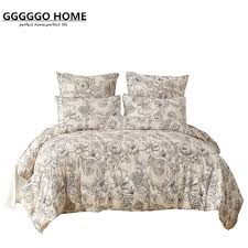 Microfiber Duvet Cover Queen Gggggo Home 3 4pcs Bedding Set Microfiber Fabric Floral Duvet
