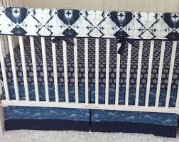 Denim Crib Bedding Baby Bedding Crib Set Denim Blue And Tribal Aztec