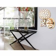 luxury led crystal wall light living room bedroom wall lamp