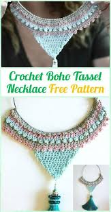 necklace pattern images Crochet necklace 27 free crochet patterns diy crafts jpg