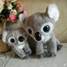 koo koo koalas ty classic 2pcs 15cm and 25cm big eyes plush toys