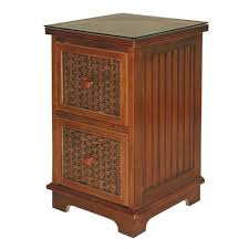 classic coastal indoor cottage wicker 2 drawer filing cabinet
