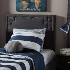 gray twin upholstered headboard