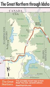road trip map of usa the great northern route us 2 road trip usa