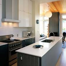 mid century modern kitchen cabinets white tile backsplash wall mount kitchen vent hood mid century