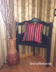 upcycled headboard corner bench the salvaged boutique