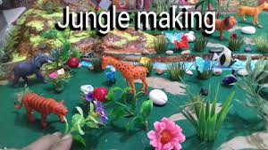 how to make jungle zoo model project waste
