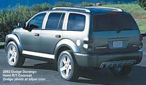 1999 dodge durango rt 2003 dodge durango hemi r t concept car