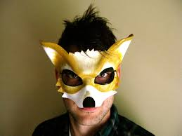 halloween fox fox leather mask or child sizes starfox mask star