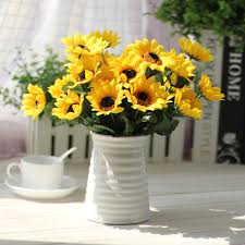 sunflower wedding decorations pretty 1bouquet artificial sunflower for home decor wedding