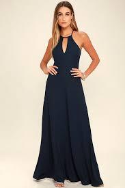 navy maxi dress lulus beauty and grace navy blue maxi dress navy blue fully lined