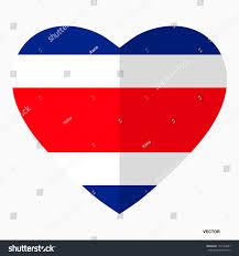 Flag Costa Rica Flag Costa Rica Shape Heart Flat Stock Vector 775164691 Shutterstock