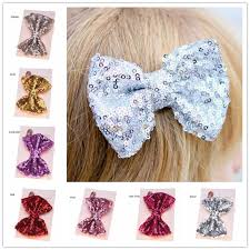 wholesale hairbows wholesale sequin hair bows large hairbow hairclip gold hair bows