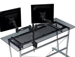 Computer Desk For Two Monitors Large Computer Desk For 3 Monitors Home Design Ideas