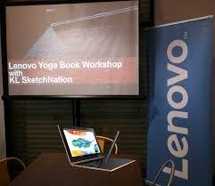 bengkel lenovo yoga book bersama kl sketchnation sungguh kreatif