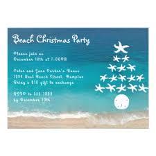 starfish tree beach christmas party invitation invitations