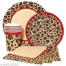 cheetah print party supplies birthday decorations leopard image inspiration of cake and