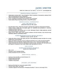 Example Of A One Page Resume by How To Write A Professional Profile Resume Genius