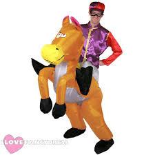 Horse Jockey Halloween Costume Jockey Costume 2 Piece Mens Horse Racing Fancy Dress