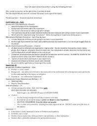 biology lab report template biology lab report exle college fieldstation co