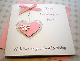 handmade personalised birthday card 1st 2nd 3rd 4th grand