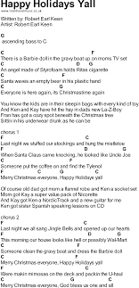 songs with chords happy holidays yall