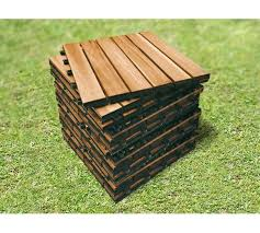 outdoor wooden deck tiles 6 slat pack of 12 outdoor deck tiles