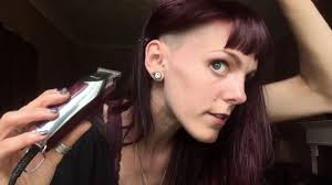 beautiful women hairstyle with sideburns how to shave sideburns for women pointed sideburns youtube