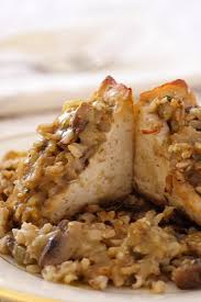 tofu stuffed with brown rice and dressing recipe from