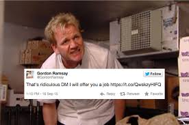 Chef Gordon Ramsay Memes - gordon ramsay offered a chef with epilepsy a job after he was fired