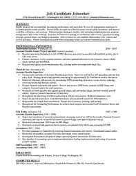 Sample Resume Format For Accounting Assistant by Accounts Payable Clerk Objective Virtren Com