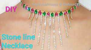 make necklace with stone images Diy ideas how to make stone line necklace at home jpg