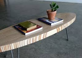 mid century modern surfboard coffee table eames elliptical coffee table replica home surfboar thippo