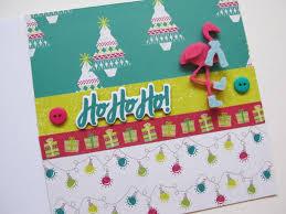 how to make a festive flamingo christmas card hobbycraft blog