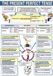 english teaching worksheets present perfect
