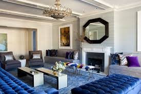 Blue Sofa Living Room Design by Furniture Amazing Living Room Design With Modern Interior And