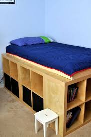boys bed with bookcase storage