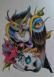 new owl tattoo design by sallysimon67 tat it up