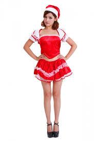 womens santa costume 24 99 mini wraped top pleated womens santa costume skirt