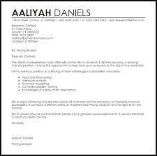 pricing analyst cover letter sample livecareer