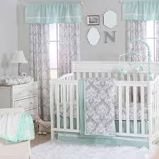 Crib Bedding Pattern Mint Green Nursery Bedding Pattern Pretty Mint Green Nursery