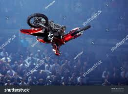 motocross freestyle riders freestyle motor cross rider performs trick stock photo 33262600