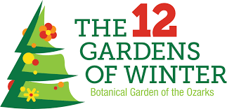 the 12 gardens of winter botanical garden of the ozarks