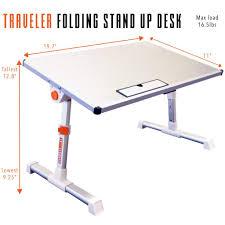 Small Stand Up Desk Traveler Folding Stand Up Desk Adjustable Smalltravel Size Standing Converter Silver Steady Sstrncsv 195 Jpg V 1520438158