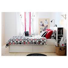 brimnes bed frame w storage and headboard white luröy standard