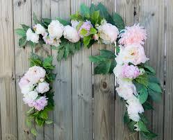 wedding arch garland wedding arch garland corner blush ceremony arbor silk swag pew