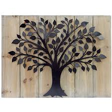 mcs industries wood metal tree wall polyvore