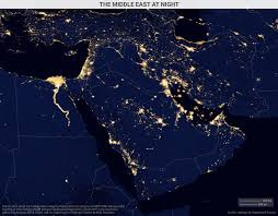 A Map Of The Middle East by The Middle East At Night Geopolitical Futures