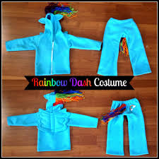 rainbow dash my little pony costume sewing tutorial pattern