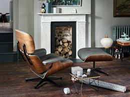 eames chair living room vitra lounge chair walnut with black pigmentation nero 89 cm